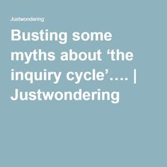 Busting some myths about 'the inquiry cycle'…. Write It Down, It Works, Knowledge, Teaching, Writing, Education, Being A Writer, Nailed It, Onderwijs