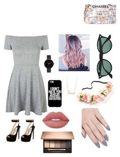 """""""Pretty"""" by amy6601 on Polyvore featuring Topshop, Prada, Chanel, Ray-Ban, Sydney Evan, I Love Ugly, Lime Crime and ncLA"""