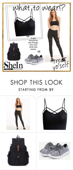 """""""Black Leggings"""" by almir-ks ❤ liked on Polyvore featuring shein"""