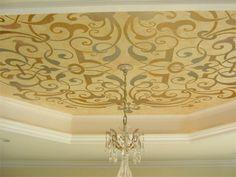 Custom stencil ceiling