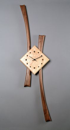 Stretch Clock by Steve Uren: Wood Clock available at www.artfulhome.com