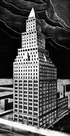 L. Bode, Entry to the Chicago Tribune Tower Competition, 1922