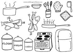 kitchen embroidery patterns