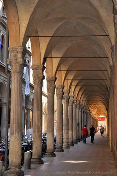 Bologna - The Porticoes. Always interesting people walking through here