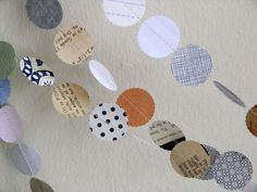paper garland. grab some scrapbook paper, or scratch paper on hand- tape to some twine, and voila!