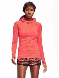 Go-Dry Funnel-Neck Pullover for Women