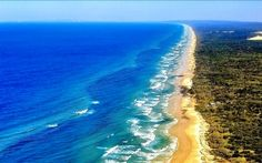 Sand, Queensland, Australien, Ufer, VEGETATION, Meer, Wellen, Fraser Island