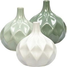 Hübsch - Keramikvas med diamantmönster   Bluebox.se