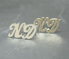 Personalized Name Cufflinks Customize it by Irisjewelerystudio