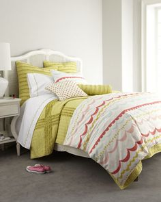 """Garland"" Bed Linens by Dena Home at Neiman Marcus."