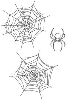 Cover your fabric in cobwebs! Downloads as a PDF. Use pattern transfer paper to trace design for hand-stitching.