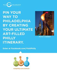 Enter before midnight July 8th to win an art-filled Philly escape! Enter: http://woobox.com/tvra8z