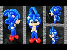 Sonic the Hedgehog balloon tutorial. Sonic Birthday Parties, Sonic Party, Girls Birthday Party Themes, Birthday Party Decorations, Party Co, Diy Party, Balloon Garland, Balloon Decorations, Party Ballons