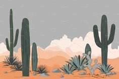 Mexico pattern with opuntia, agave, and saguaro cacti. Place for text. Wallpaper Dekstop, Cute Desktop Wallpaper, Mac Wallpaper, Macbook Wallpaper, Aesthetic Desktop Wallpaper, Graphic Wallpaper, Computer Wallpaper, Cute Wallpapers, Wallpaper Backgrounds