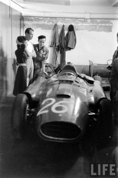 1956 Ferrari D50 driver Peter Collins at Monaco GP