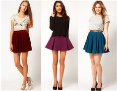 Skirt Outfits | Class to Night Out: Skater Skirt – College Fashion