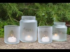 DIY - Frosted Candle Jars Tutorial - YouTube