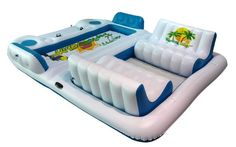 It's like mini floating couches! New Giant Inflatable Floating Island 6 Person Raft Pool Lake Float Pool Toys For Adults, Pool Floats For Adults, Cool Pool Floats, Pool Bar, Inflatable Floating Island, Lake Rafts, Pool Rafts, Lake Floats, Lake Toys
