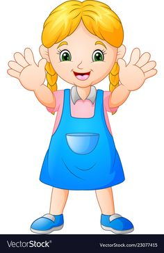 Smiling girl cartoon vector image on VectorStock Free Vector Images, Vector Free, Cartoon Download, Carson Dellosa, Girl Cartoon, Figurative Art, Adobe Illustrator, Autism, Disney Characters