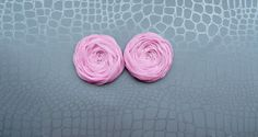 Pink Fabric Roses Handmade Appliques by BizimSupplies on Etsy, $4.00