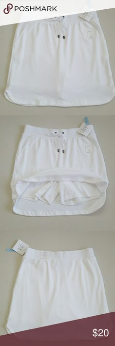"""NWT 2in1 Soft Cotton Skort New soft, sexy and comfy 100% cotton skirt with built in shorts. 2 side pockets and elastic waistband. Waist to bottom is 17"""". croft & barrow Shorts Skorts"""