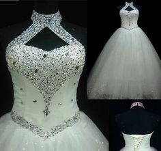WD41 Ball Gown Beading Plus Size Wedding Dresses,Wedding Dress,Custom Made Wedding Gown,