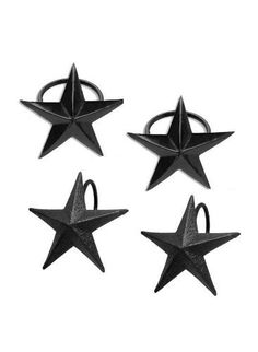 Vintage Star Paris Flea Market Style Napkin Rings (Set of 4) by Country House Collection, $16