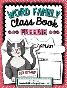 Do you LOVE class books as much as I do? Do your students think that shape books are the BOMB? Well, if you answered YES, then this Word Family Class Book is for you!!!For this little -AT family book, students will be circling and writing either LITTLE or BIG, choosing a color word to write, and then selecting a word from the word family list. Reading Words, Reading Lessons, Reading Activities, Kindergarten Lessons, Kindergarten Reading, Word Family List, Word Study, Word Work, First Grade Lessons
