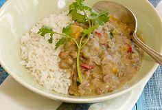 arroz blanco con guandules con coco
