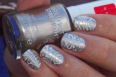Kelsie's Nail Files: Champagne Stamping
