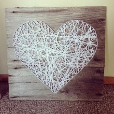 String art is very popular and fun. As a wall décor it can be very stylish and cool for your living room.We present you 30 creative diy string art ideas. String Art Diy, Diy Wall Art, Diy Art, String Art Heart, Wall Decor, String Crafts, Heart Wall, Cuadros Diy, Diy And Crafts