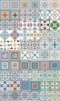 Cross Stitch Biscornus - there is no color chart available, use the pattern chart as a color guide or choose your own colors. Biscornu Cross Stitch, Mini Cross Stitch, Cross Stitch Needles, Cross Stitch Borders, Cross Stitch Charts, Cross Stitch Designs, Cross Stitching, Cross Stitch Patterns, Blackwork Embroidery