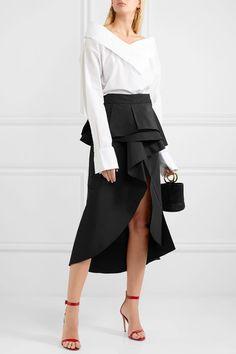 JOHANNA ORTIZ Talisman #ruffled silk-faille wrap midi #skirt €955
