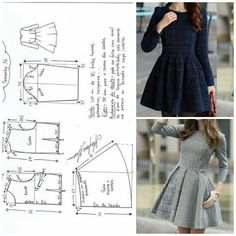 Risultati immagini per moldesedicasmoda Sewing Dress, Dress Sewing Patterns, Diy Dress, Sewing Patterns Free, Free Sewing, Sewing Clothes, Clothing Patterns, Party Dress, Fashion Sewing