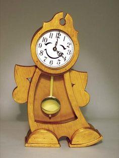 19-W3389 - Kids Pendulum Clock Woodworking Plan