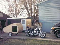 Dyi motorcycle camper