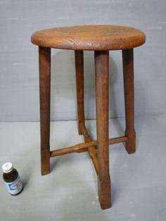 《金正堂》NO.2 昭和レトロ木製丸椅子 スツール 古民具  - ヤフオク!