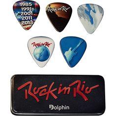 Palheta Rock in Rio Dolphin :: [Caixa de Metal Preta 5 Unidades]