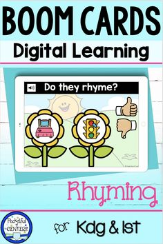 Spring Rhymes Boom Cards for Digital Learning