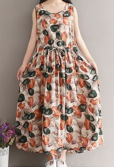 Women loose fitting over plus size extract flower dress maxi Bohemian Boho tunic #Unbranded #dress #Casual