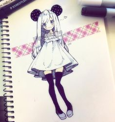 It's not a good week for me rn so I may be slow to reply, but I always read comments and I appreciate all your kind words<3 anyways, sketching while waiting for my crafting materials to arrive in Blade and Soul... It's not good for someone as inpatient as me (メ`ロ´)/ trying to save ink in my purple+pink pens by sacrificing my black pens while finally utilizing the tape I got from the dollar store 4 weeks ago...