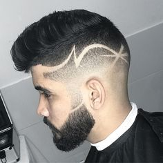 35 Awesome Design Haircuts For Men - Men's Hairstyles Hair Tattoo Men, Hair Tattoos, Popular Haircuts, Haircuts For Men, Hair Tattoo Designs, Hair Designs For Men, Shaved Hair Designs, Haircut Designs, Design Haircuts