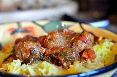 Gluten Free Spaghetti Squash and Meatballs
