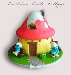 The Smurfs - by CartoonCakeVillage @ CakesDecor.com - cake decorating website