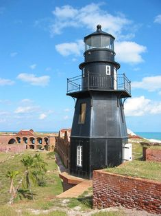 Closeup of Lighthouse on Fort Jefferson Dry Tortugas National Park - Florida