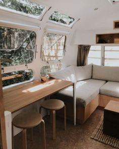Airstream Living, Airstream Remodel, Airstream Renovation, Airstream Interior, Bus Living, Tiny House Living, Small Living, Home And Living, Living Spaces