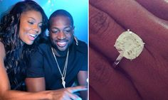 Get engagement ring inspiration from your favorite celebrity couple by browsing the gallery of celebrity engagement ring photos from deBebians. Celebrity Engagement Rings, Engagement Ring Photos, Celebrity Couples, Diamond Engagement Rings, Hollywood Wedding, Desperate Housewives, Gabrielle Union, Bling, Wedding Rings