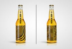 Creative Beer Packaging Screen-Prints Geometric Patterns Directly On Bottles - DesignTAXI.com
