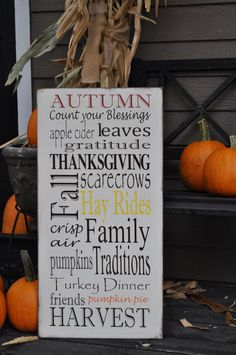 Fall Subway Art Sign/Fall Typography/Thanksgiving by noelinteriors, $75.00
