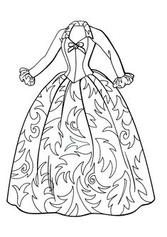 style a dress coloring woman dresses line - Coloring Page Dress